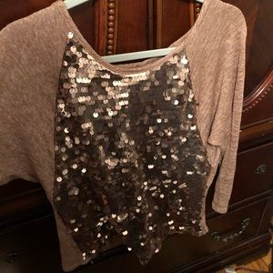 Glittery but casual sequin top